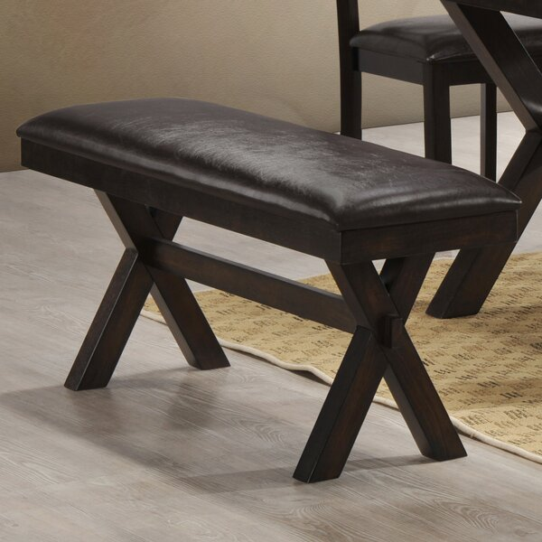 Johanson Faux Leather Bench by Andover Mills Andover Mills