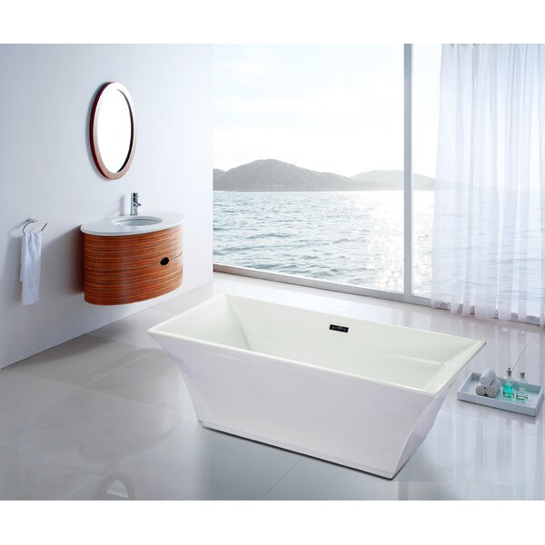 67 x 30 Free Standing Bathtub by Fine Fixtures