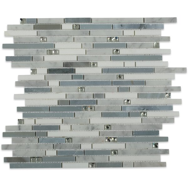 Fable Random Sized Marble Mosaic Tile in Fairy Godmother by Splashback Tile