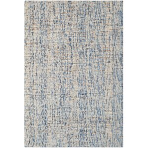 Egypt Lake-Leto Hand-Tufted Dark Blue/Rust Area Rug