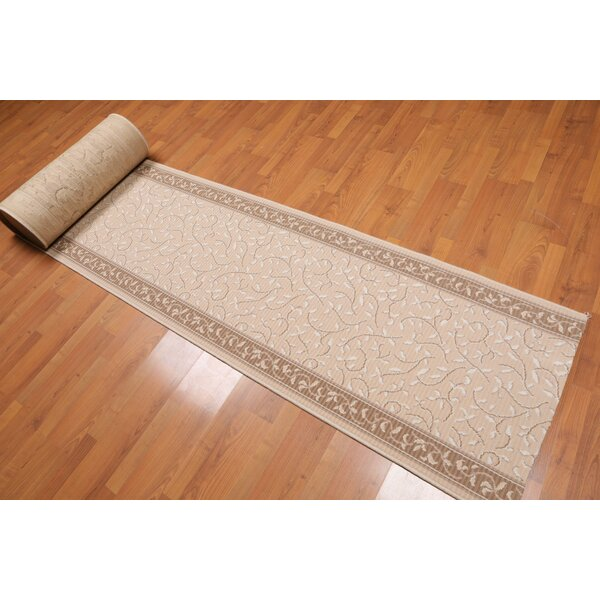 Jo Traditional Wool Beige/Brown Area Rug by Canora Grey