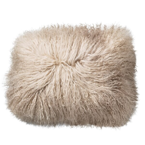 Morison Tibetan Lamb Fur Throw Pillow by House of Hampton