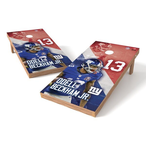 NFLPA NY Giants Odell Beckham Jr Cornhole Game Set by Tailgate Toss