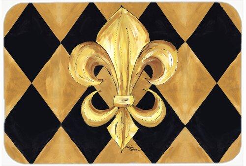 Fleur De Lis New Orleans Kitchen/Bath Mat by Caroline's Treasures