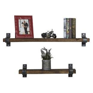 Preetesh Industrial Grace 2 Piece Floating Shelf Set by Gracie Oaks