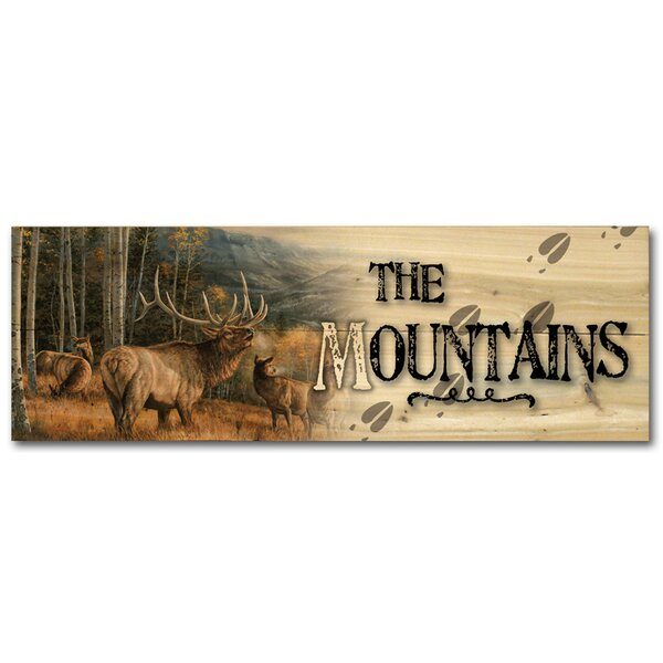 The Mountains Meadow Music Elk by Rosemary Millette Graphic Art Plaque by WGI-GALLERY