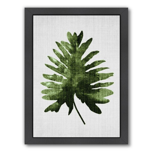 Tropical Leaf 2 Framed Graphic Art by Bay Isle Home