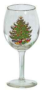 Original Christmas Tree 11 Oz. Wine Goblet (Set of 4) by The Holiday Aisle