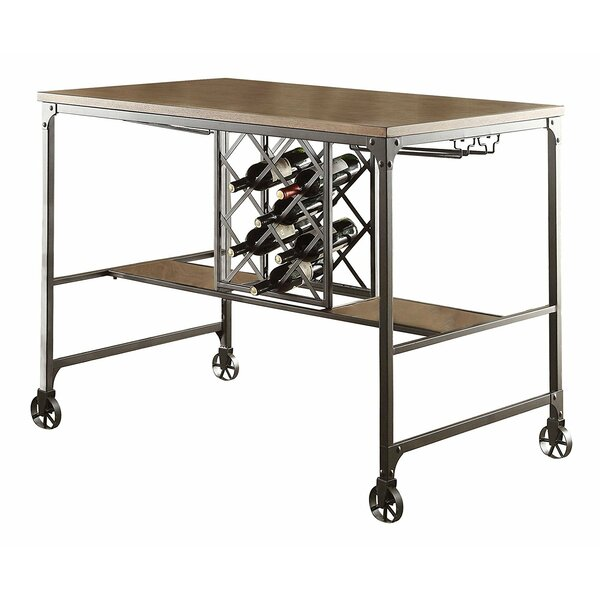 Sloane Wood/Metal Counter Height Dining Table by 17 Stories