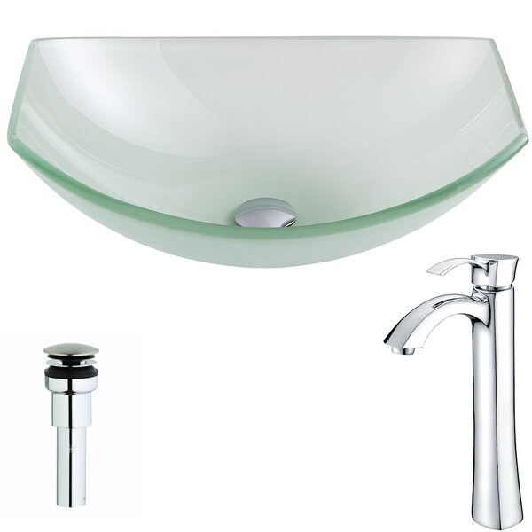Pendant Glass Specialty Vessel Bathroom Sink with