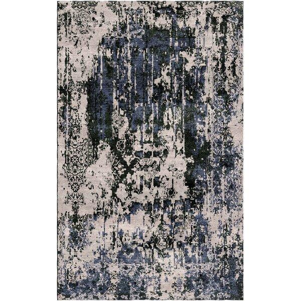 Aliza Handloom Gray Area Rug by Bungalow Rose