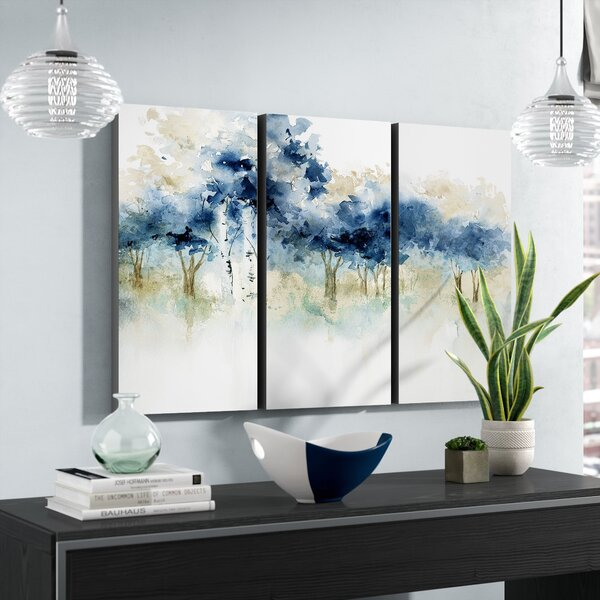 Waters Edge I Acrylic Painting Print Multi Piece Image On Wrapped Canvas By Alcott Hill.
