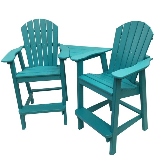 Phat Tommy Balcony Plastic Adirondack Chair Set by Buyers Choice