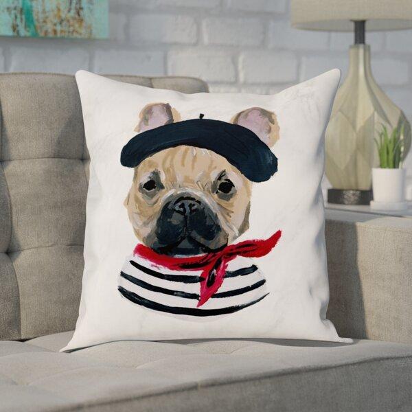 Ferndown Frenchie Throw Pillow by Brayden Studio