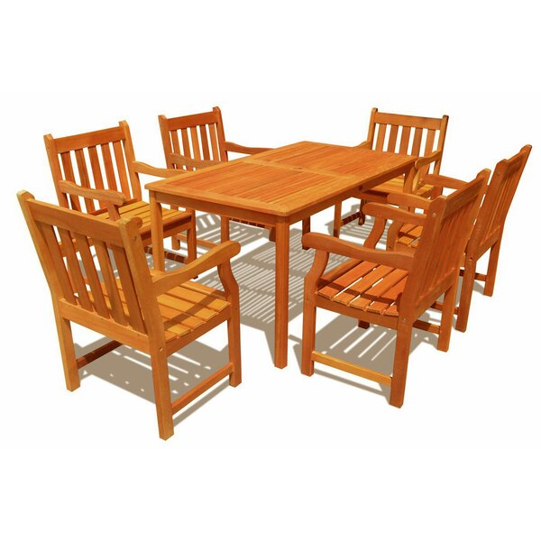 Adam 7 Piece Dining Set by ALK Brands