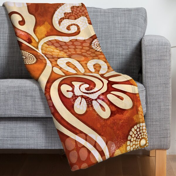 Design Warm Exotic Vines Throw Blanket by East Urban Home
