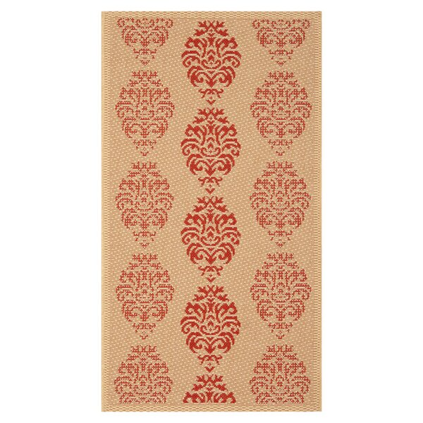 Poole Terracotta Indoor/Outdoor Area Rug by Charlton Home