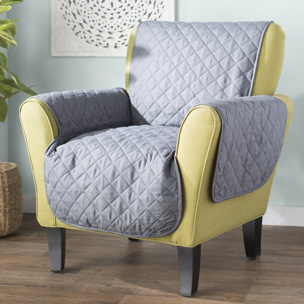 Quilted Box Cushion Armchair Slipcover by Red Barr