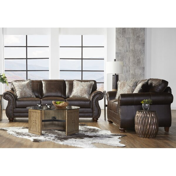 Macalla Upholstered Nailhead 2 Piece Living Room Set by Canora Grey