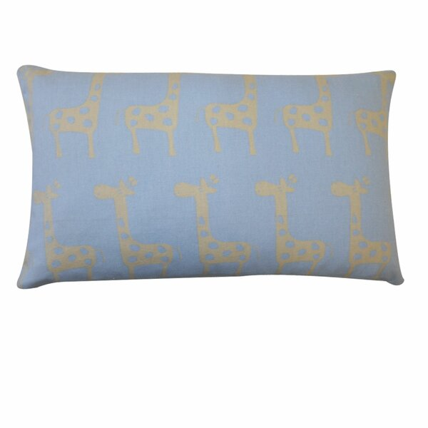 Kids Giraffe Outdoor Lumbar Pillow by Jiti