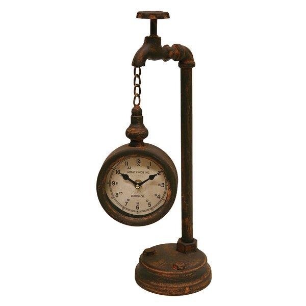 Faucet Tabletop Clock by Breakwater Bay