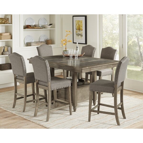 Carley 7 Piece Pub Table Set by Ophelia & Co.