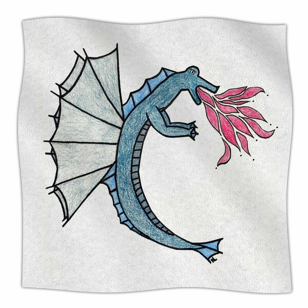 Water Dragon by NL Designs Fleece Blanket by East Urban Home