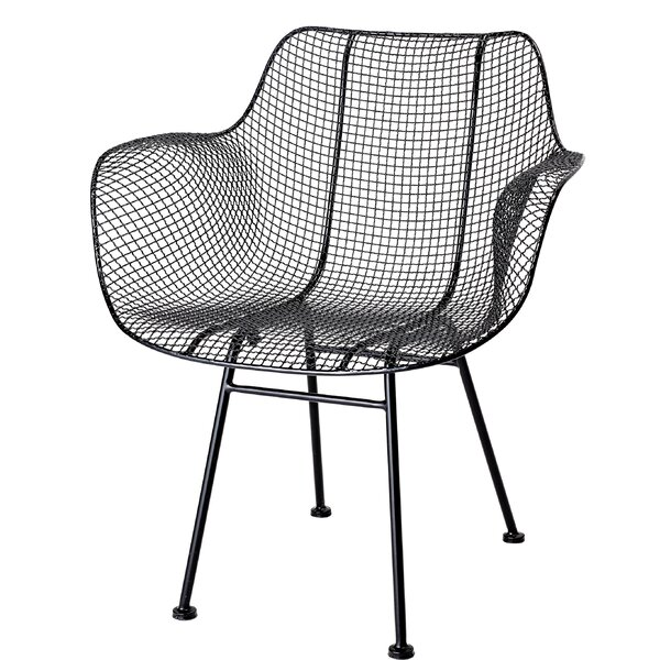 Cinda Curvy Open Weave Metal Armchair (Set Of 2) By Brayden Studio Best Choices