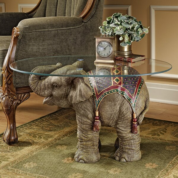 Jaipur Elephant Festival Coffee Table by Design Toscano