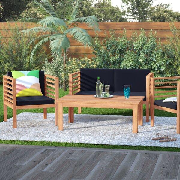 Tillman 4 Piece Sofa Seating Group With Cushions By Mercury Row by Mercury Row #2