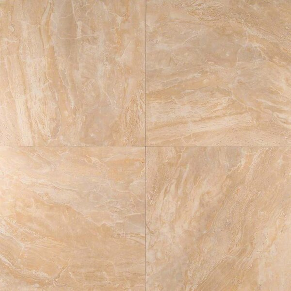 Onyx 12 x 12 Porcelain Field Tile in Beige by MSI