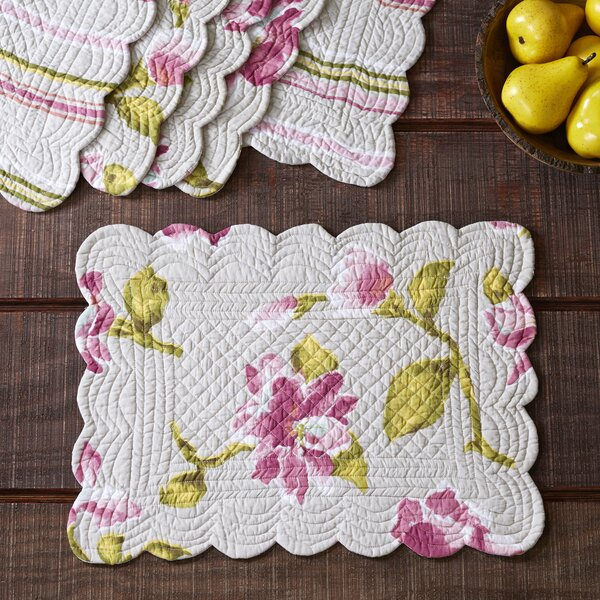 Armitage Quilted Placemats (Set of 6) by Charlton Home