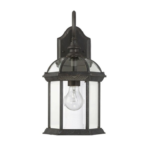 Mayhugh 1-Light Outdoor Wall lantern by Three Posts