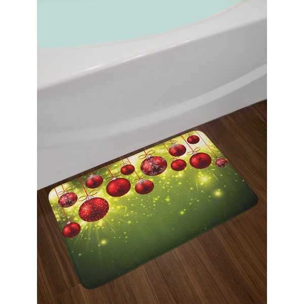 Green Red Christmas Bath Rug by East Urban Home