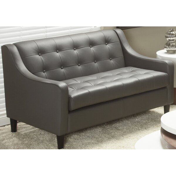 Cameo Top Grain Leather Love Seat by Lind Furniture