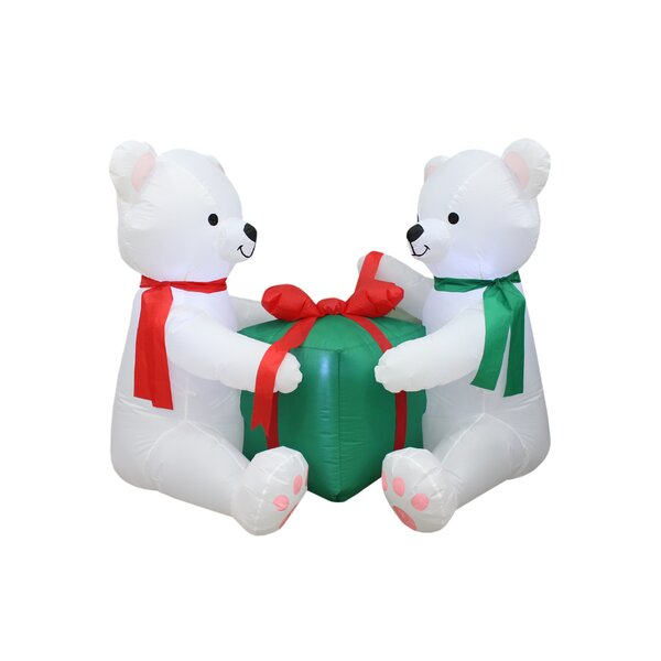 Polar Bears Hug Gift Box Inflatable by The Holiday Aisle