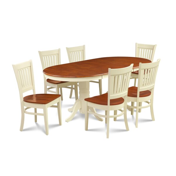Lunde Traditional 7 Piece Extendable Dining Set by Andover Mills