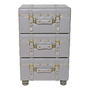 Wonderful Mederos 3 Drawer Trunk Accent Cabinet