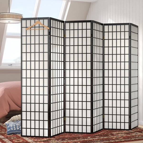 Tejas Shoji 6 Panel Room Divider by World Menagerie