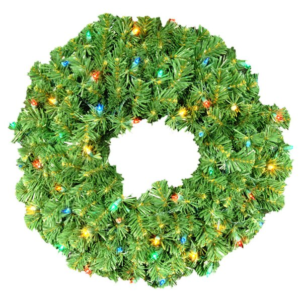 Pre-Lit Incandescent Sequoia Wreath by Queens of Christmas