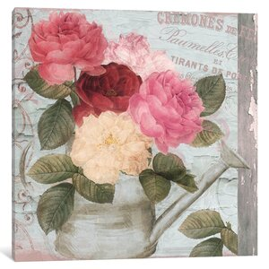Chalet d'ete Roses Graphic Art on Wrapped Canvas by Lark Manor