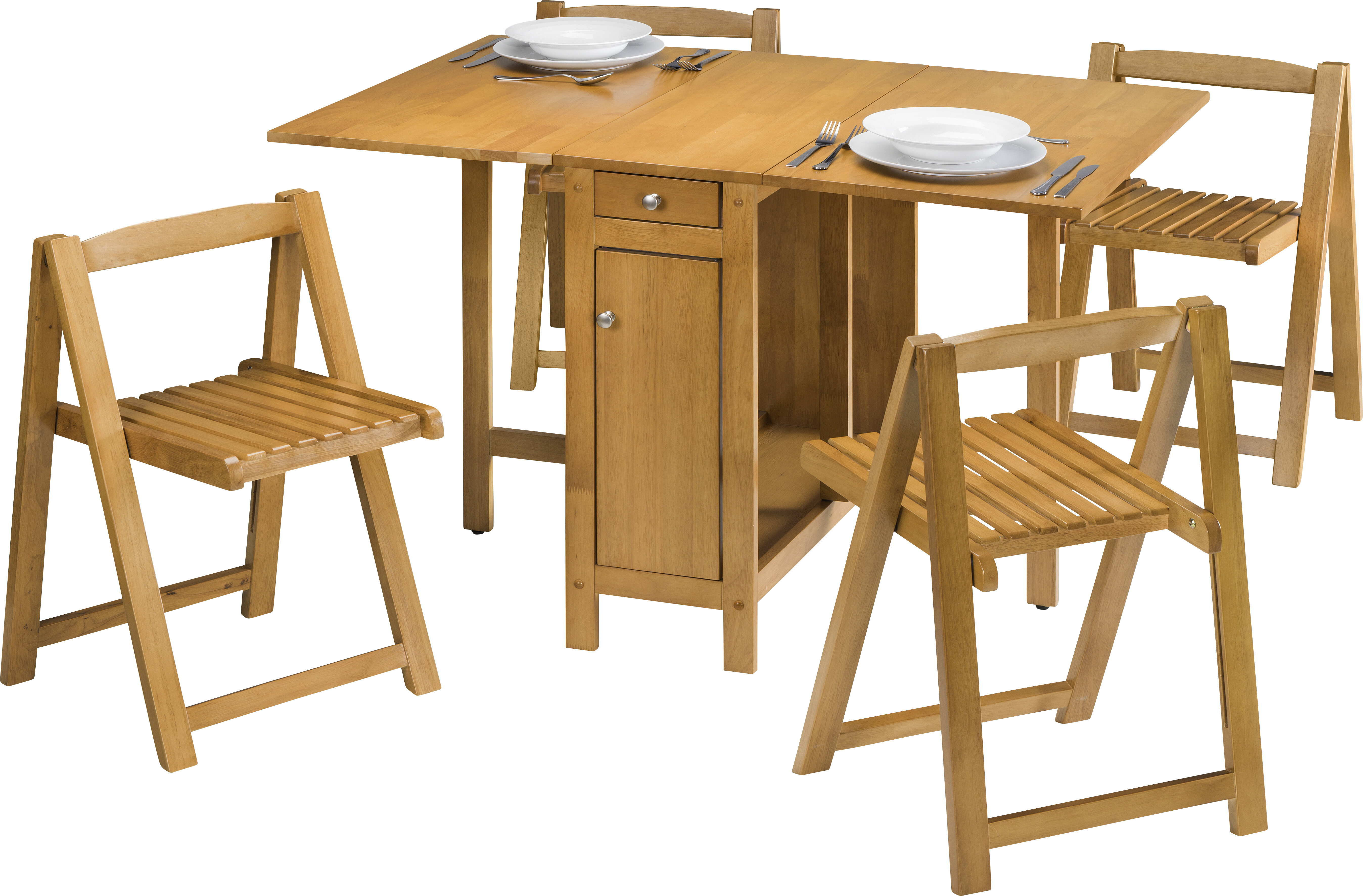 August Grove Alfreda Folding Dining Set with 4 Chairs & Reviews