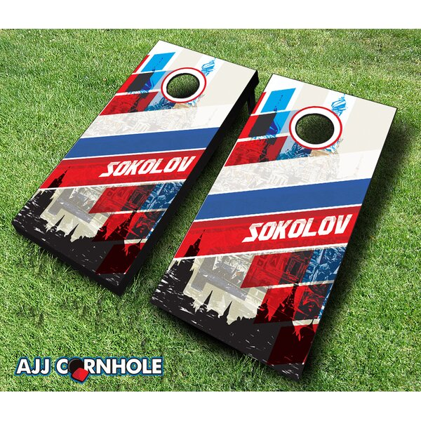10 Piece Russian Surname Cornhole Set by AJJ Cornhole