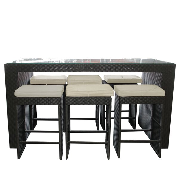 7 Piece Dining Set with Cushions by Northlight Seasonal