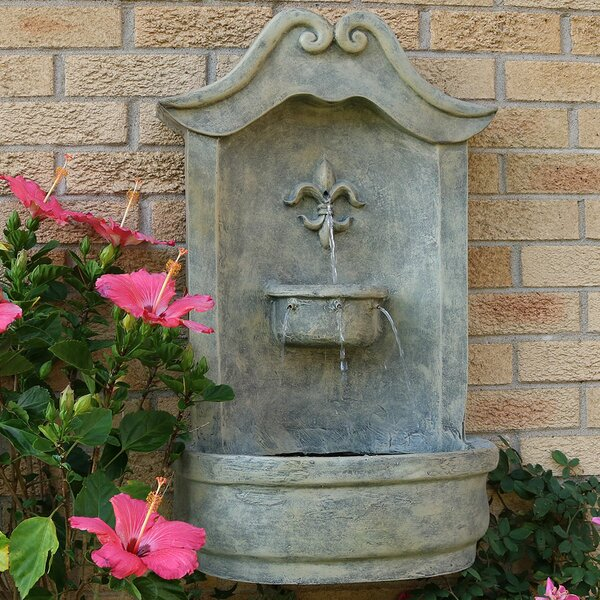 Polystone Flower of France Electric Wall Fountain by Wildon Home ®