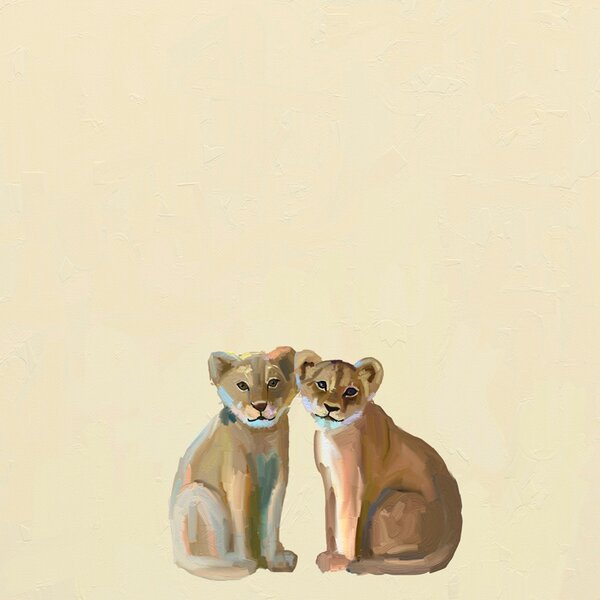 Baby Lion Cubs by Cathy Walters Canvas Art by Oopsy Daisy