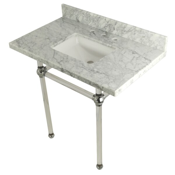 Carrara Marble 36 Single Bathroom Vanity Set by Kingston BrassCarrara Marble 36 Single Bathroom Vanity Set by Kingston Brass