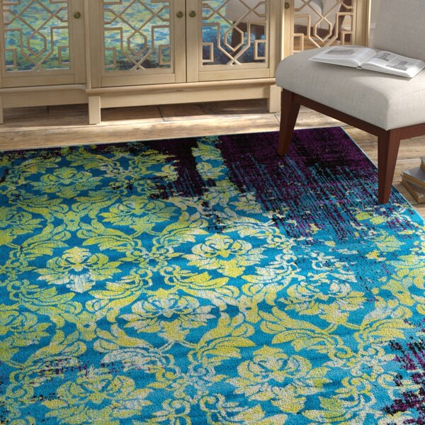 Yareli Blue/Violet Area Rug by Bungalow Rose