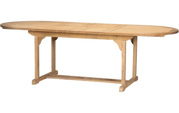 Page Oval Double Extendable Teak Dining Table by August Grove