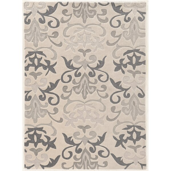Coggins Hand-Tufted Ivory Area Rug by Charlton Home